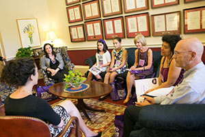 Advocates meeting with a congressional staff member