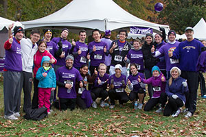 The Thomas Jefferson University Hospitals team at PurpleStride Philadelphia 2012. Dr. Yeo is in the second row at the far right; Dr. Brody is kneeling in the first row, where he is second from the left.