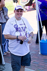 Larry Matulsky at a recent PurpleStride Boston event