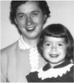 Pamela Acosta Marquardt at age 3 with her mother, Rose Schneider