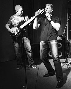 """Chuck Reed, left, and Kevin Canafax perform together. Canafax started the """"Play On"""" pancreatic cancer awareness campaign for Reed, who had just been diagnosed with the disease."""