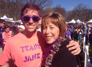 Eric Doppelt's beloved aunt, Jane Negrin, is fighting pancreatic cancer. He rallied friends and family to be part of Team Jane at several PurpleStride events in the spring and will do so again next year.