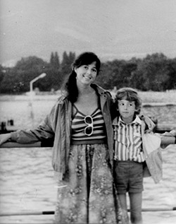 Sergei as a child with his mom, Elena, in Russia.