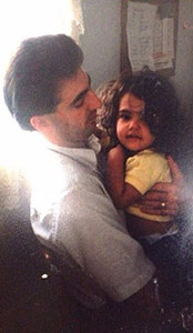 Cheyenne as a baby with her first love, her dad.