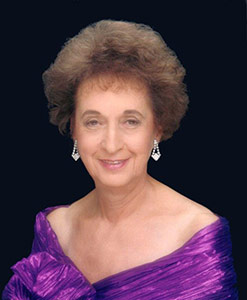 Rose Schneider in her favorite color, which today represents pancreatic cancer awareness.