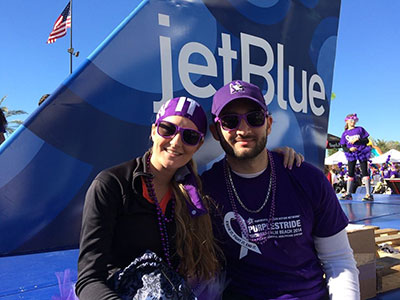 Candace and Andres Tejidor Wage Hope at PurpleStride Broward-Palm Beach.