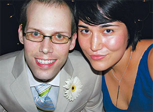 Andrew and Fumiko at their wedding, after his cancer diagnosis. He died a year later, leaving a lot of medical debt.