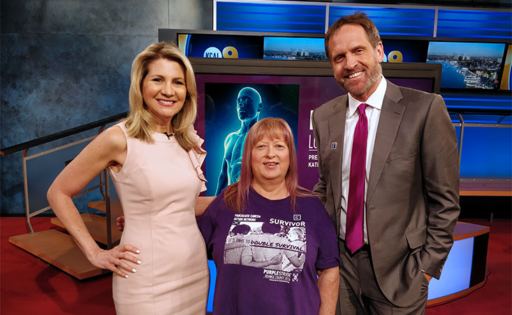 Pancreatic Cancer Action Network volunteers appeared on KCAL-TV to discuss PurpleStride Los Angeles, which takes place on May 5.
