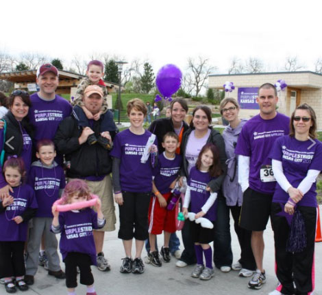 McDonald helped launch PurpleStride Kansas City in 2011.