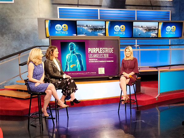 The Pancreatic Cancer Action Network appeared on KCAL-TV to discuss PurpleStride Los Angeles, which takes place on May 5.