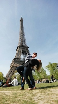 Allison and her boyfriend Eric traveled to France before her pancreatic cancer diagnosis