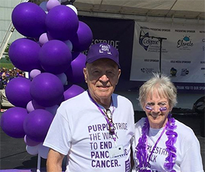 A 50-year and 5-year survivor participate in walk to end pancreatic cancer in Milwaukee