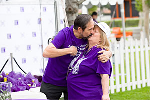 Husband and wife volunteer leaders at PurpleStride 5K walk to end pancreatic cancer