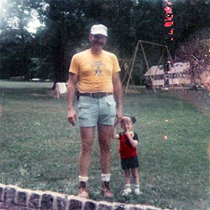 PanCAN volunteer and his father, who died of pancreatic cancer in 2002.