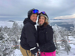 Dietitian Jeannine Mills from Dartmouth Hitchcock Medical Center on ski vacation