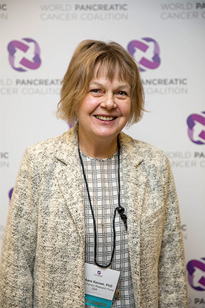 Barbara Kenner, PhD, attends the World Pancreatic Cancer Coalition annual meeting