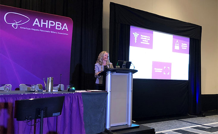 PanCAN President & CEO gives the presidential invited lecture at the AHPBA Annual Meeting