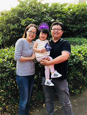 Married scientists and their daughter Wage Hope with the Pancreatic Cancer Action Network