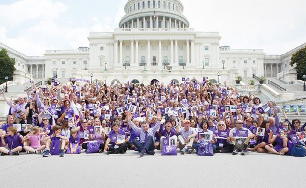 Over 100 volunteers outside Capitol building for National Pancreatic Cancer Advocacy Day 2018