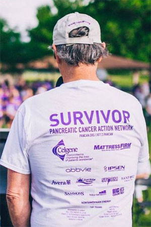 Pancreatic cancer survivor honored at PurpleStride Sioux Falls walk to end pancreatic cancer.