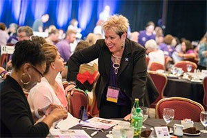 Founder of pancreatic cancer advocacy organization greets supporters at event