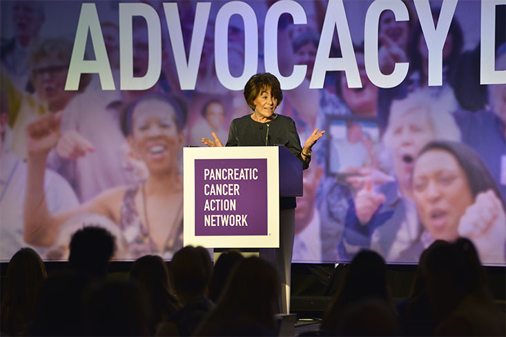 U.S. Congresswoman Anna Eshoo (D-CA) delivers send-off remarks to the 650 registered Advocacy Day participants.