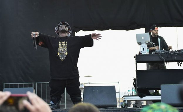 Bushwick Bill of hip-hop group Geto Boys rapping on stage before he died following stage IV pancreatic cancer diagnosis