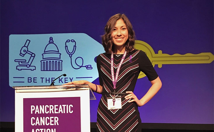 PanCAN volunteer attends Advocacy Day 2018 in honor of her dad who died from pancreatic cancer