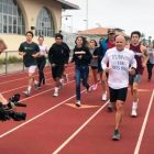 Coach Tom Atwell raises funds for PanCAN with a 100-mile run at La Jolla High School's track.