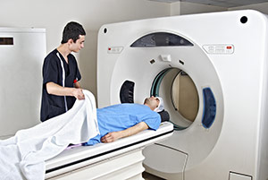 An imaging test is used to detect pancreatic cancer.