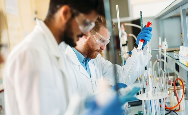 Pancreatic cancer scientists funded by PanCAN grants work in a lab to improve patient outcomes.