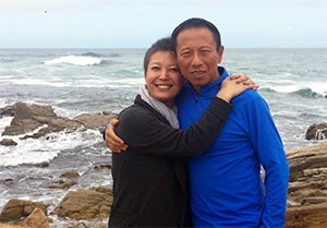 Pancreatic cancer patient with her husband of 25 years