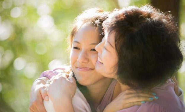 Daughter with her mom who was diagnosed with pancreatic cancer
