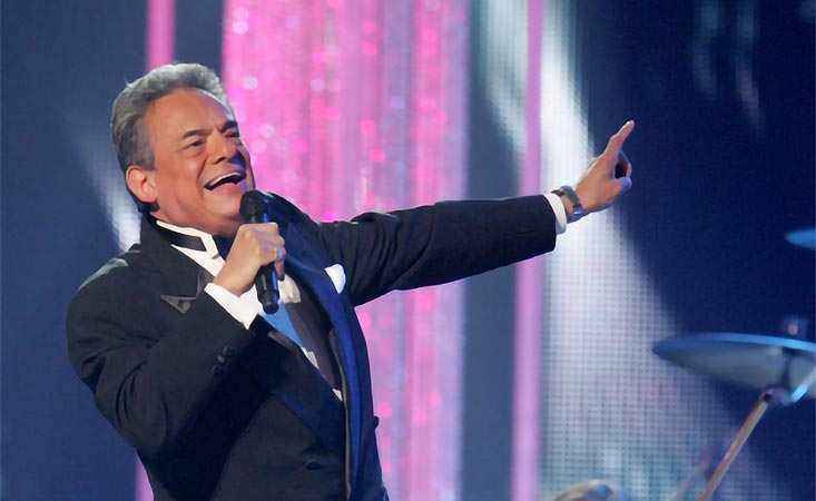José José Legendary Mexican singer on stage before he died from pancreatic cancer in 2019