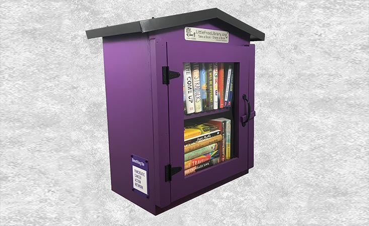 Little Free Library's PanCAN library generates a donation of $50