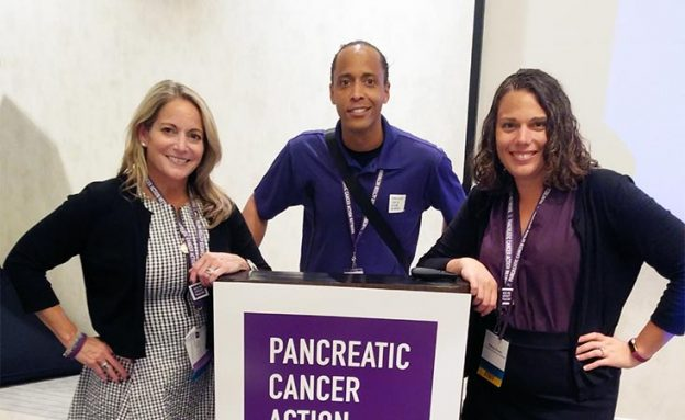 Pancreatic Cancer Action Network volunteer in Atlanta with his Community Relations Manager