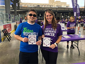Gastrointestinal oncologist participates in PanCAN's PurpleStride Western New York