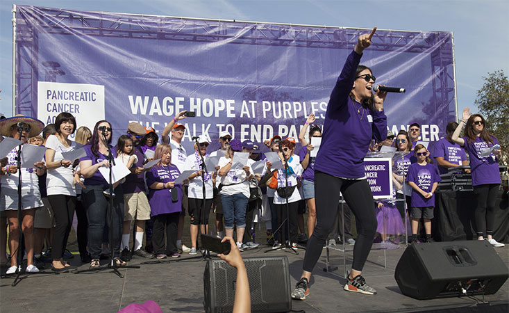 """Erin Willett performs """"Hope's Alive"""" at PurpleStride pancreatic cancer fundraiser in L.A."""