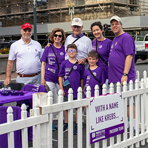 Pancreatic cancer survivor with his team at PanCAN's 5K walk in Washington, D.C.