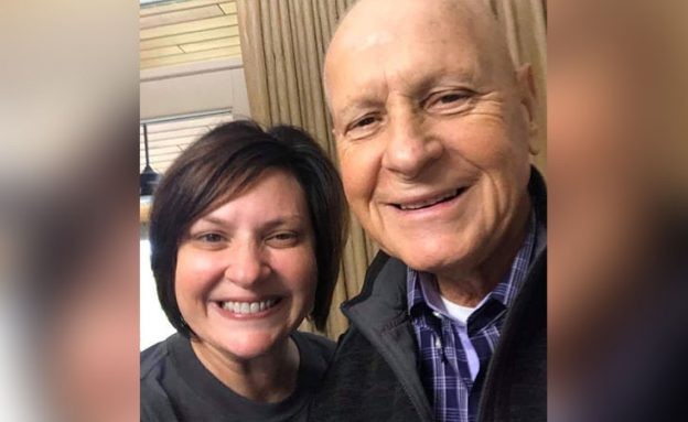 Father, a pancreatic cancer survivor, with his daughter