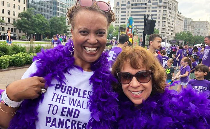 Supporters advocate for PanCAN on behalf of pancreatic cancer survivors and those lost