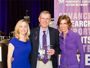 Maurice with PanCAN President and CEO, Julie Fleshman, and then-Board Chair, Laurie MacCaskill