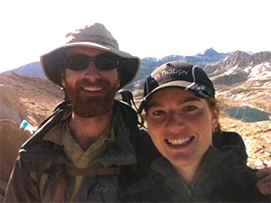 Pancreatic cancer researcher and partner spend time outdoors