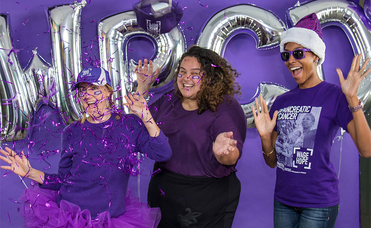 PanCAN staff members celebrate a past World Pancreatic Cancer Day