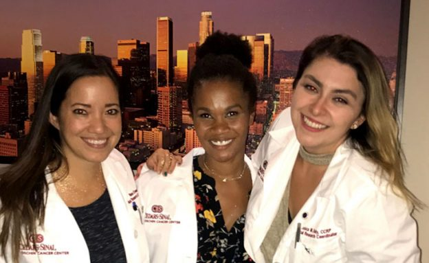 Karla and two other women in nursing attire smiling