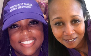 Two volunteers spread awareness about pancreatic cancer