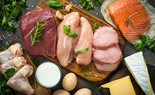 Meat and cheese are allowed in a keto diet, which limits carbs and includes high-fat foods